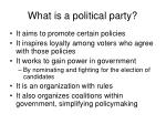 what is a political party10