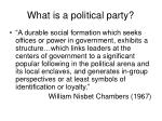 what is a political party9