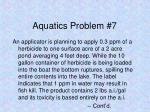 aquatics problem 7