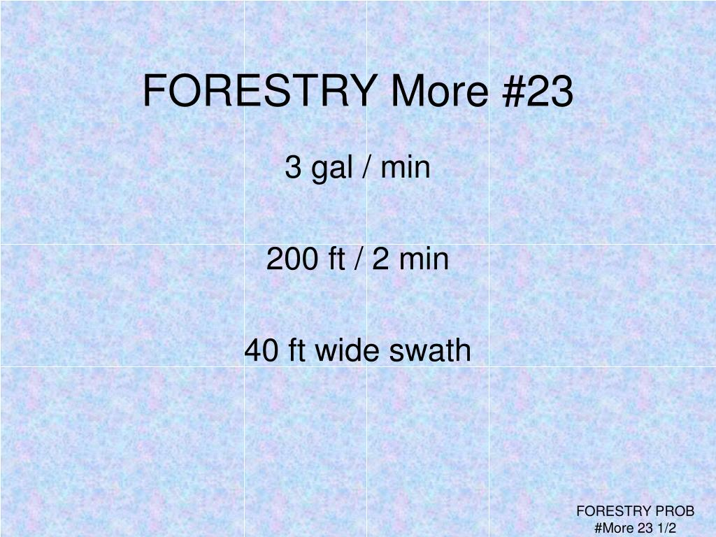 FORESTRY More #23