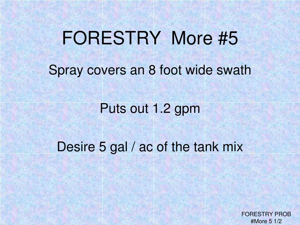 FORESTRY  More #5