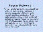 forestry problem 11