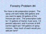 forestry problem 4