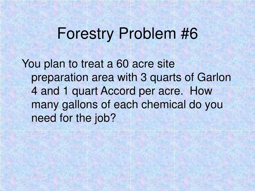 Forestry Problem #6