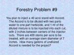 forestry problem 9