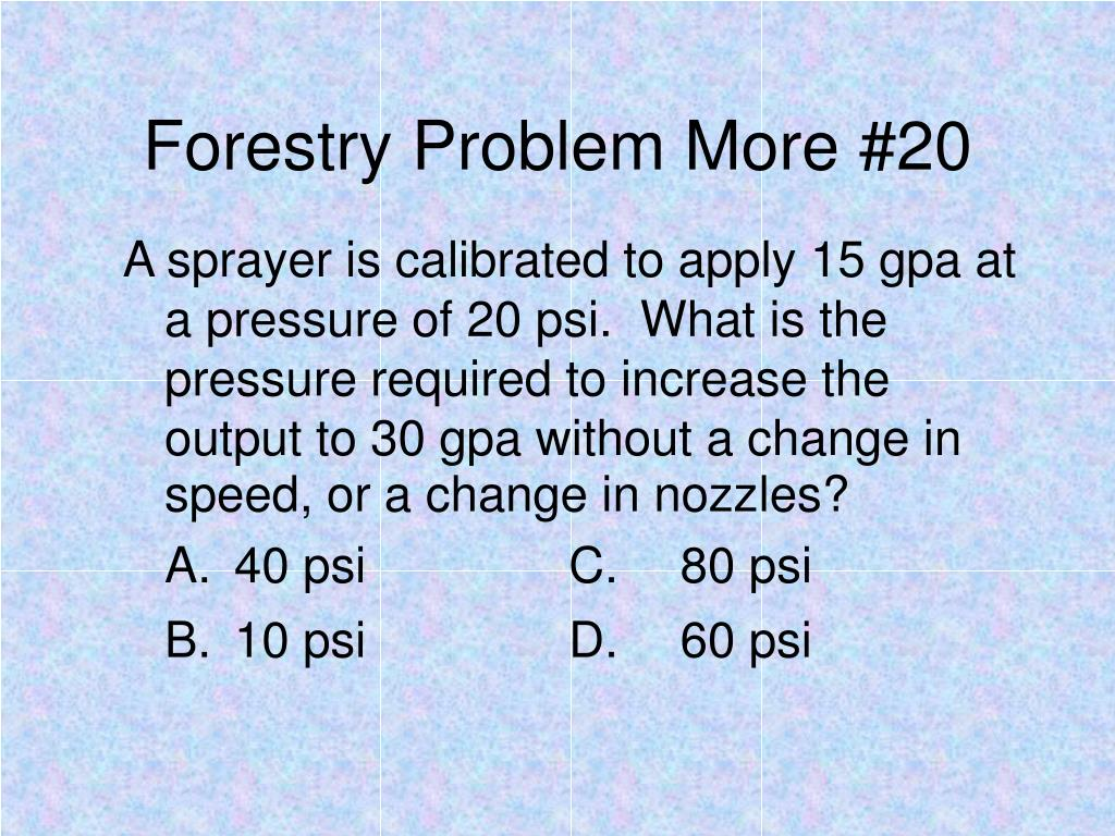 Forestry Problem More #20