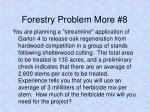 forestry problem more 8