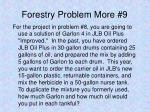 forestry problem more 9