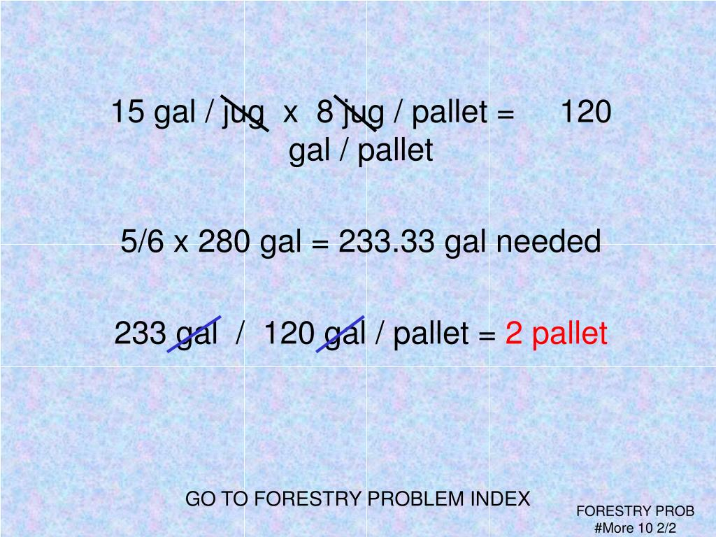 GO TO FORESTRY PROBLEM INDEX