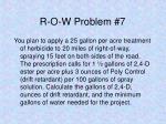 r o w problem 7