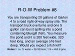 r o w problem 8