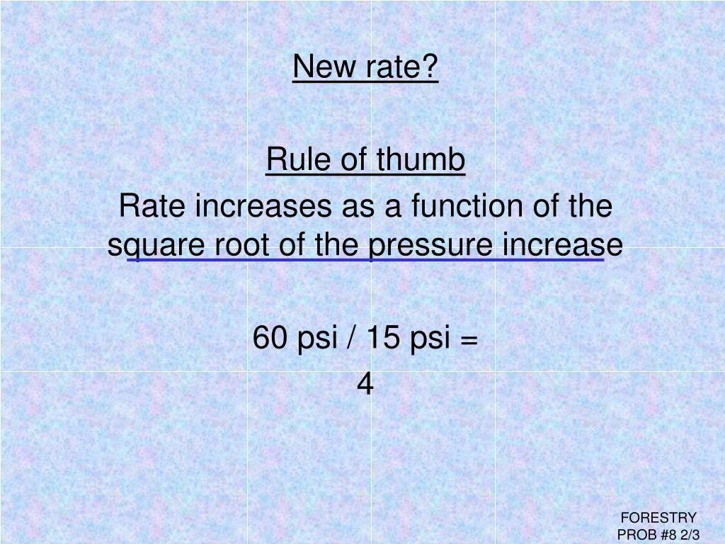 New rate?