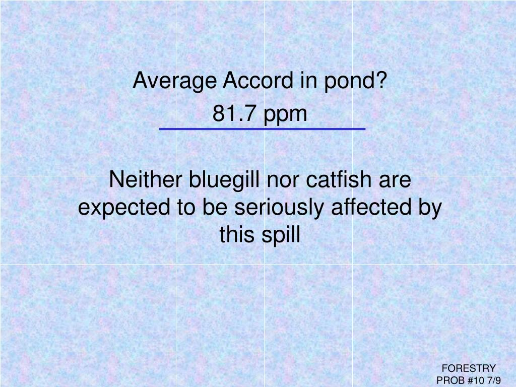 Average Accord in pond?