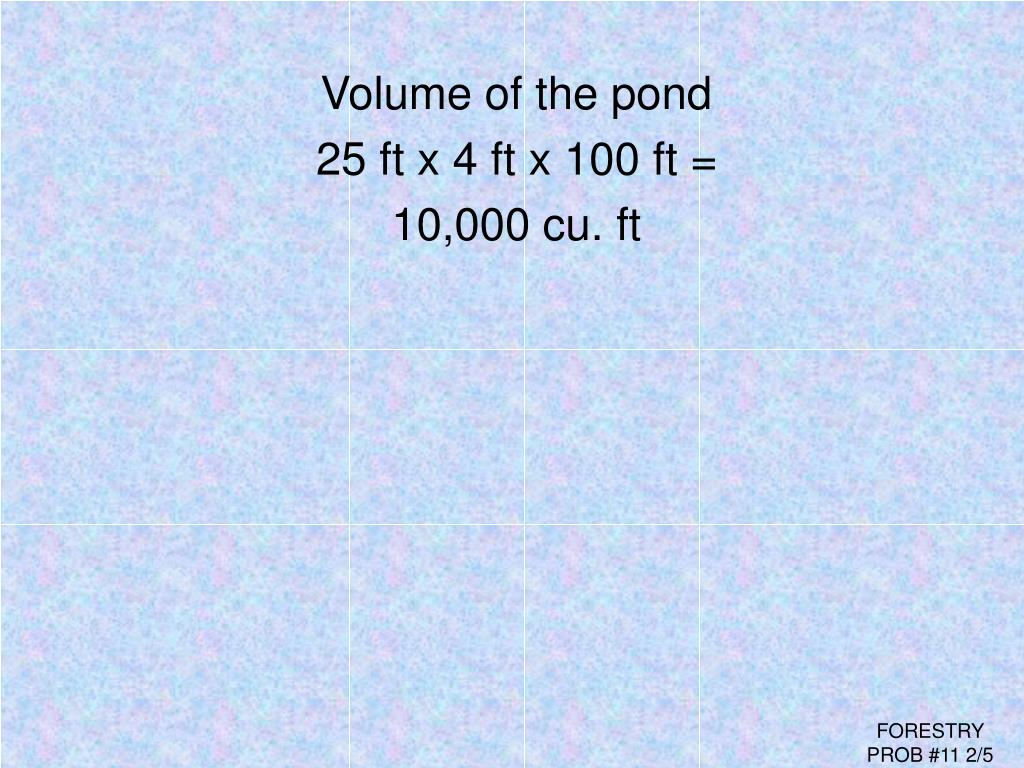 Volume of the pond