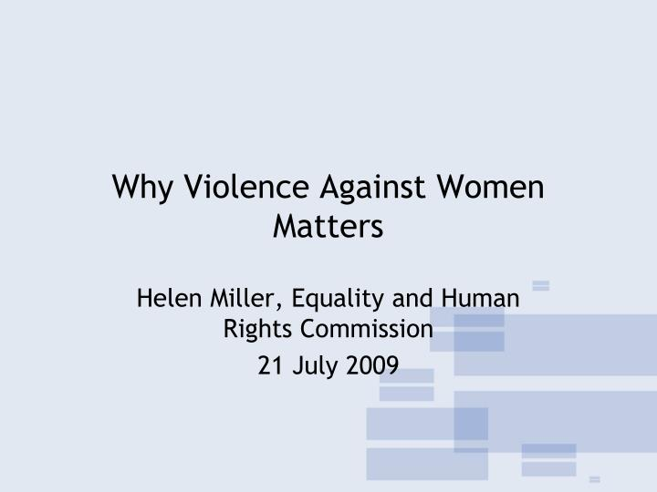 why violence against women matters n.