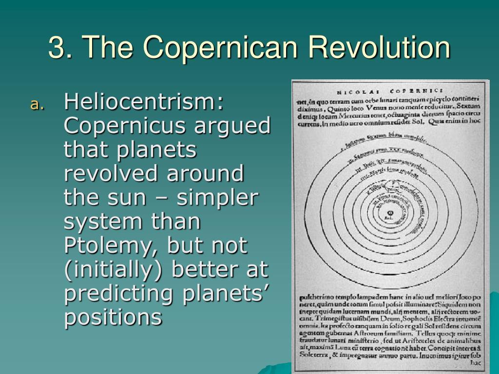 3. The Copernican Revolution