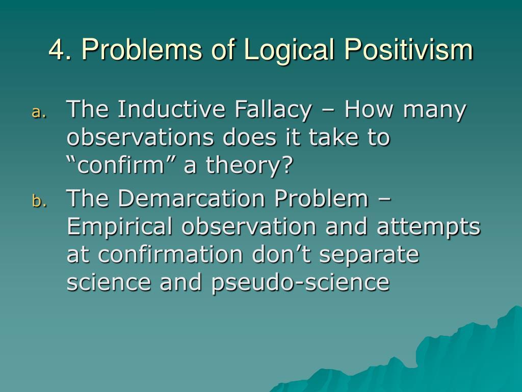 4. Problems of Logical Positivism