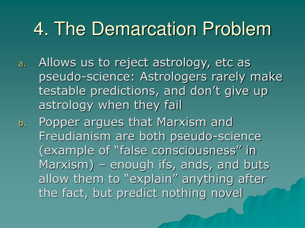 4. The Demarcation Problem