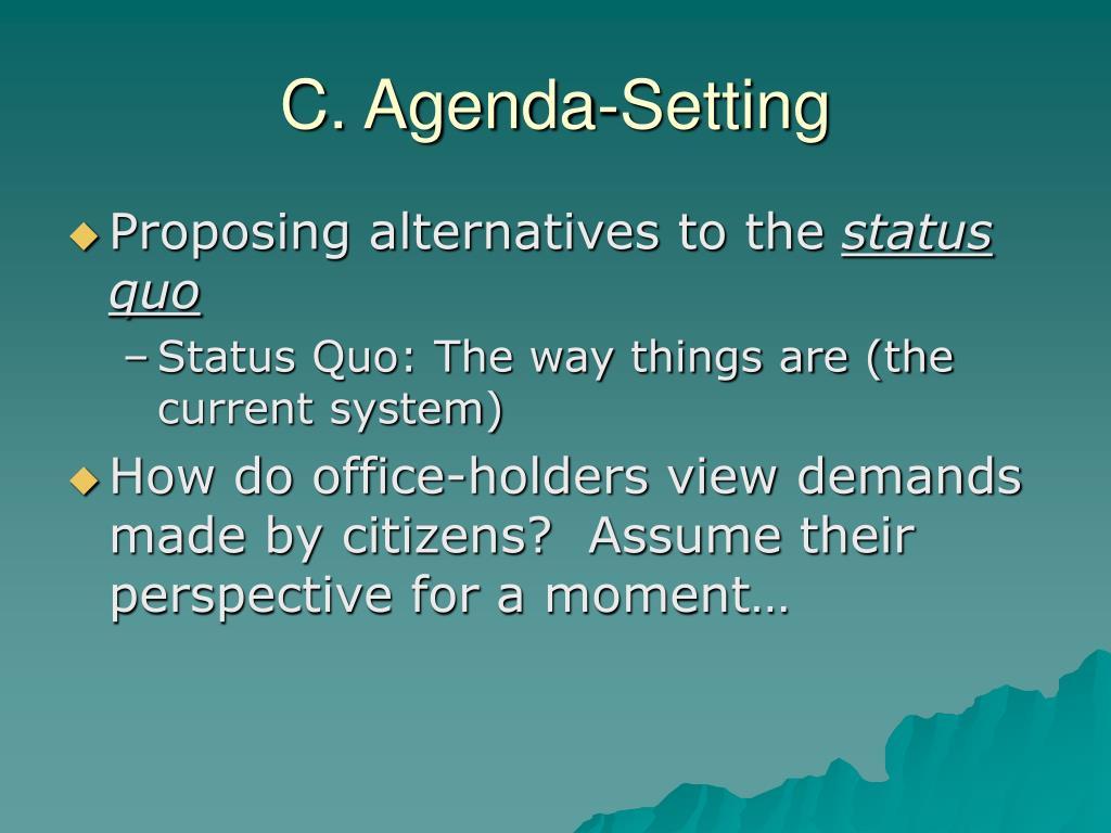 C. Agenda-Setting