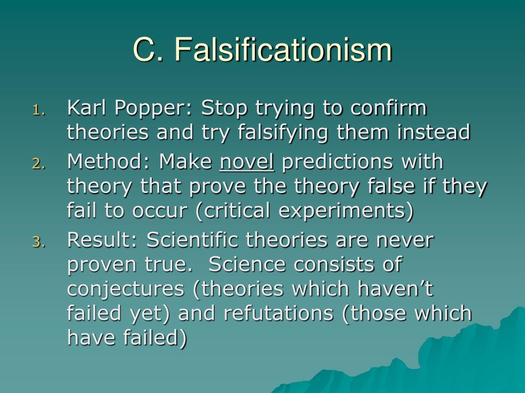 C. Falsificationism