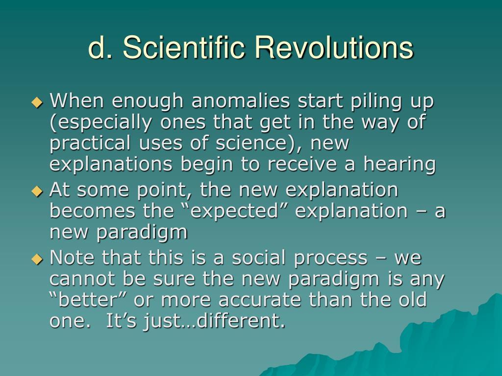 d. Scientific Revolutions