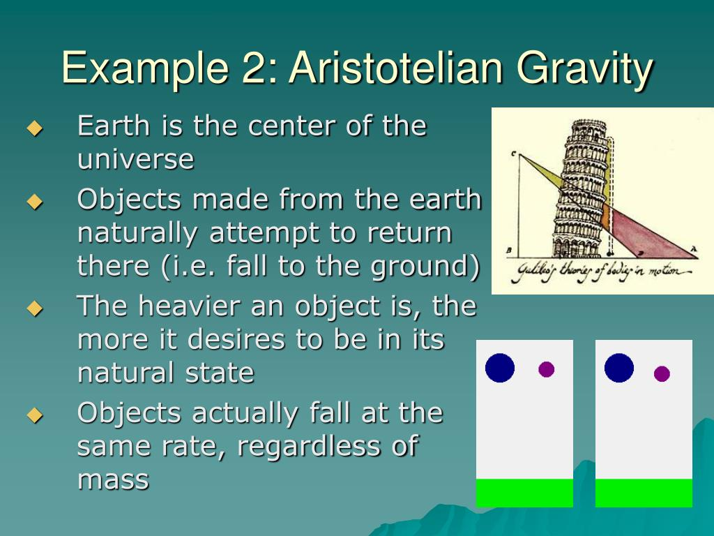 Example 2: Aristotelian Gravity