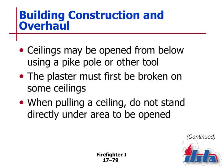 Building Construction and Overhaul