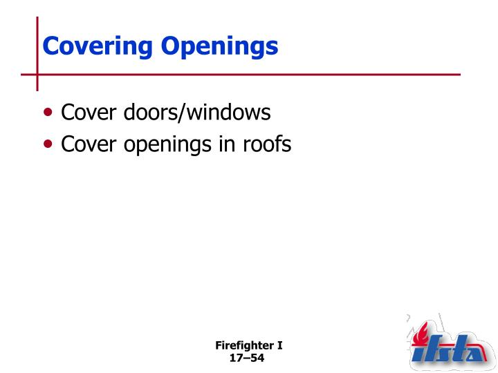 Covering Openings