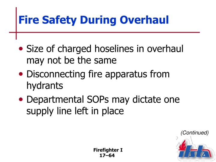 Fire Safety During Overhaul