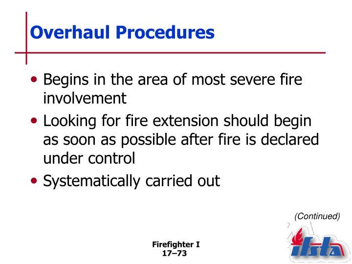 Overhaul Procedures