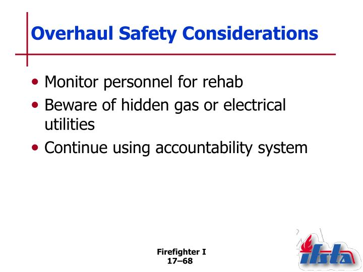 Overhaul Safety Considerations