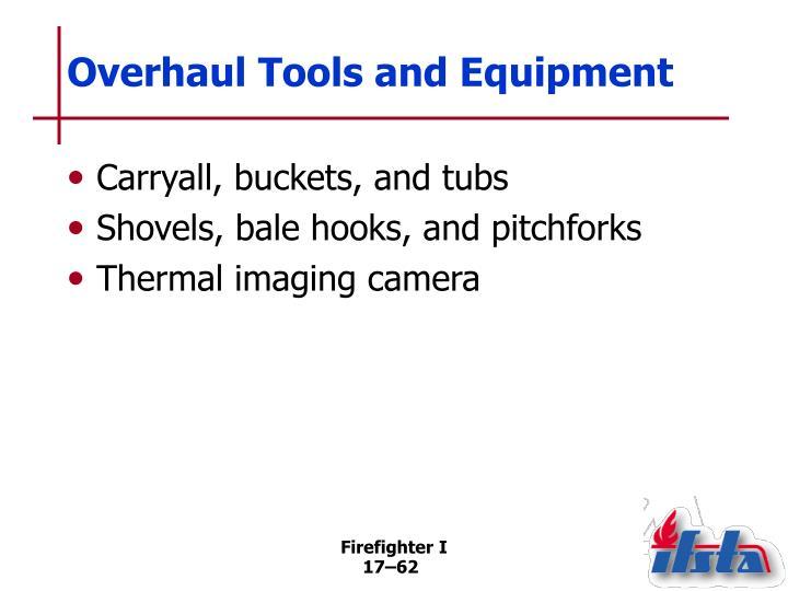 Overhaul Tools and Equipment