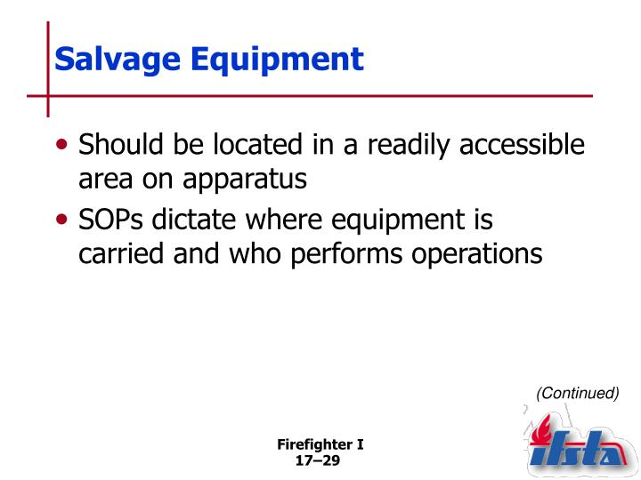 Salvage Equipment