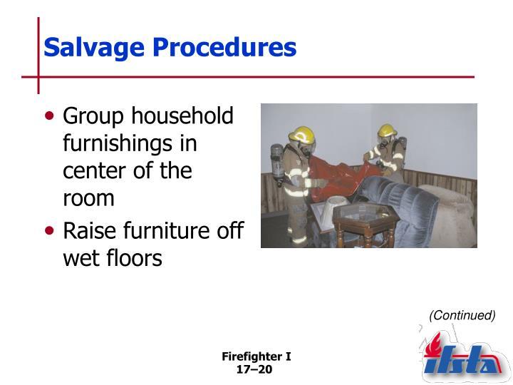 Salvage Procedures