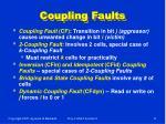 coupling faults