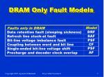 dram only fault models