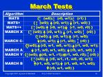 march tests