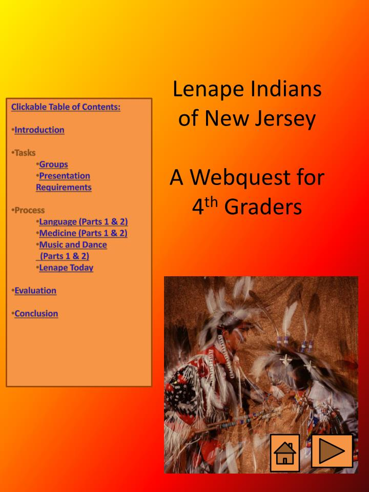 lenape indians of new jersey a webquest for 4 th graders n.