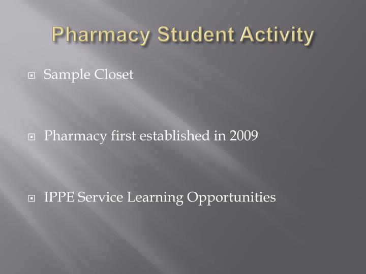 Pharmacy Student Activity