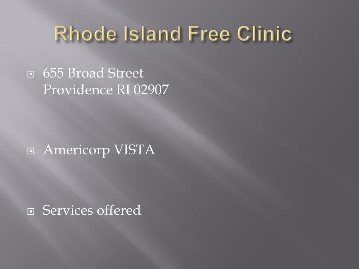 Rhode Island Free Clinic