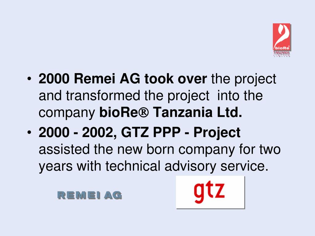 2000 Remei AG took over