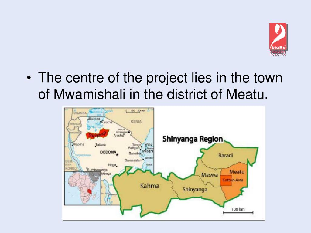 The centre of the project lies in the town of Mwamishali in the district of Meatu.