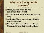 what are the synoptic gospels