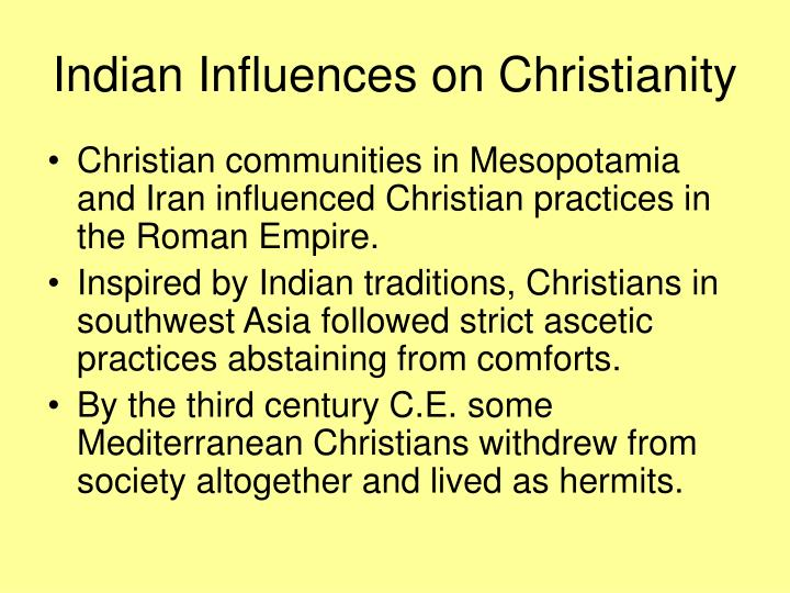 Indian Influences on Christianity