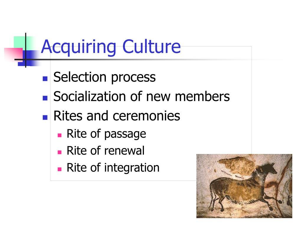 Acquiring Culture