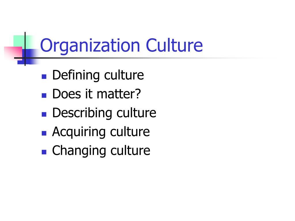 organization culture l.
