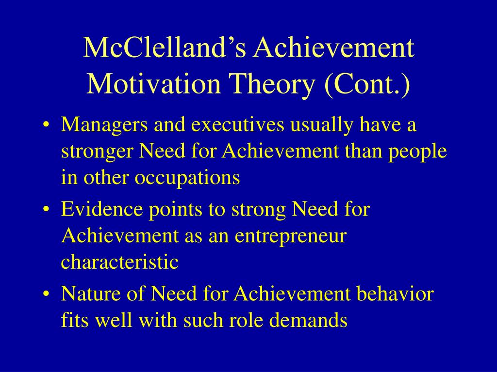 mcclellands theory of needs