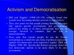 activism and democratisation