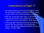 implications of sept 11