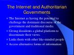 the internet and authoritarian governments